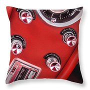 1963 Chevrolet Corvette Split Window Dash -334c Throw Pillow