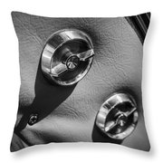 1963 Chevrolet Corvette Split Window Door Latch -292bw Throw Pillow