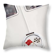 1963 Chevrolet Corvette Split Window Emblem -445c Throw Pillow