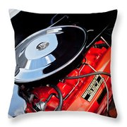 1963 Chevrolet Corvette Split Window Engine -147c Throw Pillow