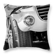 1963 Chevrolet Corvette Split Window Grille -209bw Throw Pillow