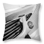 1963 Chevrolet Corvette Split Window Grille -221bw Throw Pillow