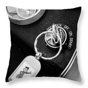 1963 Chevrolet Corvette Split Window - Mr Zip Key Ring -173bw Throw Pillow