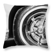 1963 Chevrolet Corvette Split Window Wheel -090bw Throw Pillow