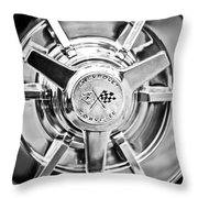 1963 Chevrolet Corvette Split Window Wheel -111bw Throw Pillow