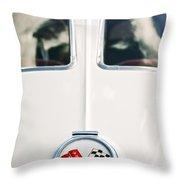 1963 Chevrolet Corvette Split Window Wheel Emblem -118c Throw Pillow