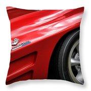 1963 Chevrolet Corvette Sting Ray Z06 Throw Pillow