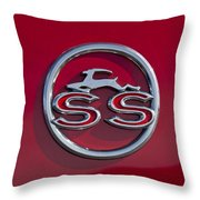 1963 Chevrolet Impala Ss Emblem Throw Pillow