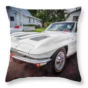 1963 Chevy Corvette Coupe Painted  Throw Pillow
