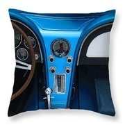 1963 Corvette Dash Throw Pillow