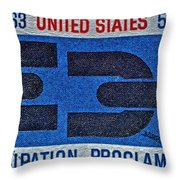 1963 Emancipation Proclamation Stamp Throw Pillow