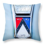 1963 Ford Falcon Futura Convertible Emblem Throw Pillow