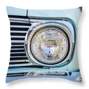 1963 Ford Falcon Futura Convertible Headlight - Hood Ornament Throw Pillow