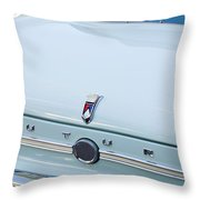 1963 Ford Falcon Futura Convertible  Rear Emblem Throw Pillow by Jill Reger