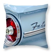 1963 Ford Falcon Futura Convertible Taillight Emblem Throw Pillow by Jill Reger