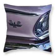 1963 Ford Galaxie Front End And Badge Throw Pillow