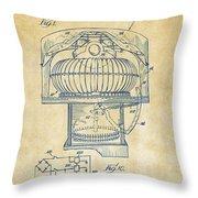 1963 Jukebox Patent Artwork - Vintage Throw Pillow