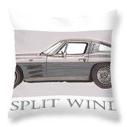 1963 Split Window Throw Pillow