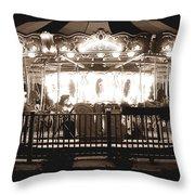 1964 Allan Herschell Carousel Throw Pillow