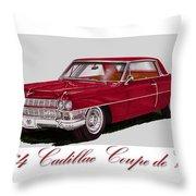 1964 Cadillac Coupe De Ville Throw Pillow