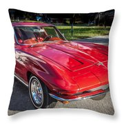 1964 Chevy Corvette Coupe  Throw Pillow