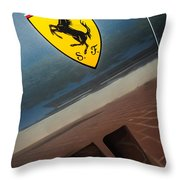 1964 Ferrari 275 Gtb-c Speciale Emblem -0352c Throw Pillow