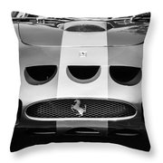 1964 Ferrari 275 Gtb-c Speciale Grille -0959bw Throw Pillow