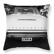 1964 Ford Thunderbird Painted Bw Throw Pillow