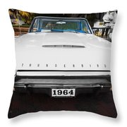1964 Ford Thunderbird Painted Throw Pillow