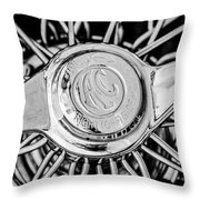 1964 Shelby 289 Cobra Wheel Emblem -0666bw Throw Pillow
