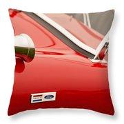 1964 Shelby Cobra 289 Street Roadster Emblem Throw Pillow