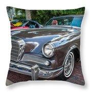 1964 Studebaker Golden Hawk Gt Painted Throw Pillow
