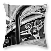 1965 Ac Cobra Steering Wheel Throw Pillow