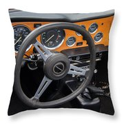 1965 Austin Healey Interior Throw Pillow
