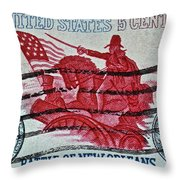 1965 Battle Of New Orleans Stamp Throw Pillow