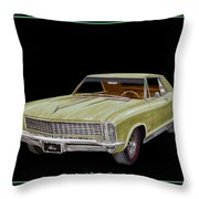 1965 Buick Riviera Gran Sport Throw Pillow