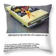 1965 Chevelle Convertible Throw Pillow