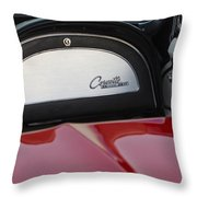 1965 Chevrolet Corvette Dashboard Emblem Throw Pillow