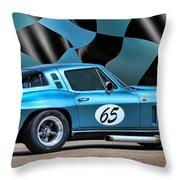 1965 Corvette Throw Pillow