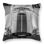 1965 Ford Ac Cobra Replica Painted Bw Throw Pillow