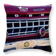 1965 Ford American Lafrance Fire Truck Throw Pillow