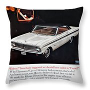 1965 Ford Falcon Ad Throw Pillow