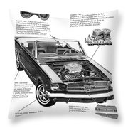 1965 Ford Mustang Performance Kits Throw Pillow