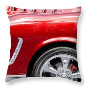 1965 Ford Mustang Really Red Throw Pillow
