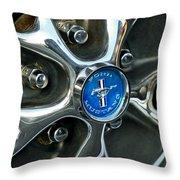 1965 Ford Mustang Wheel Rim Throw Pillow