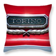 1965 Ford Torino Emblem Throw Pillow