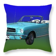 1965 Mustang Convertible Throw Pillow