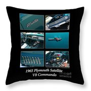 1965 Plymouth Satellite Throw Pillow
