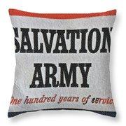 1965 Salvation Army Stamp Throw Pillow