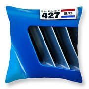 1965 Shelby Cobra 427 Emblem Throw Pillow